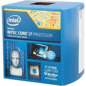 Intel i7-4790K 4 GHz Quad Core + Hyperthreading Unlocked 22nm Haswell (Devil's Canyon) Socket LGA1