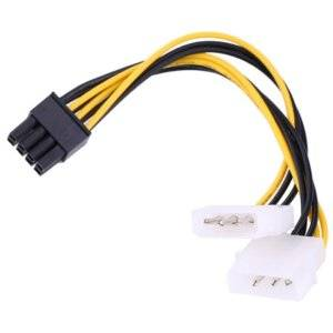 2 X MOLEX(4P) TO 8PIN GFX