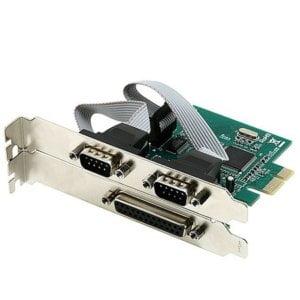 2 X SERIAL 1 X PARALLEL PCI-E 1X LP