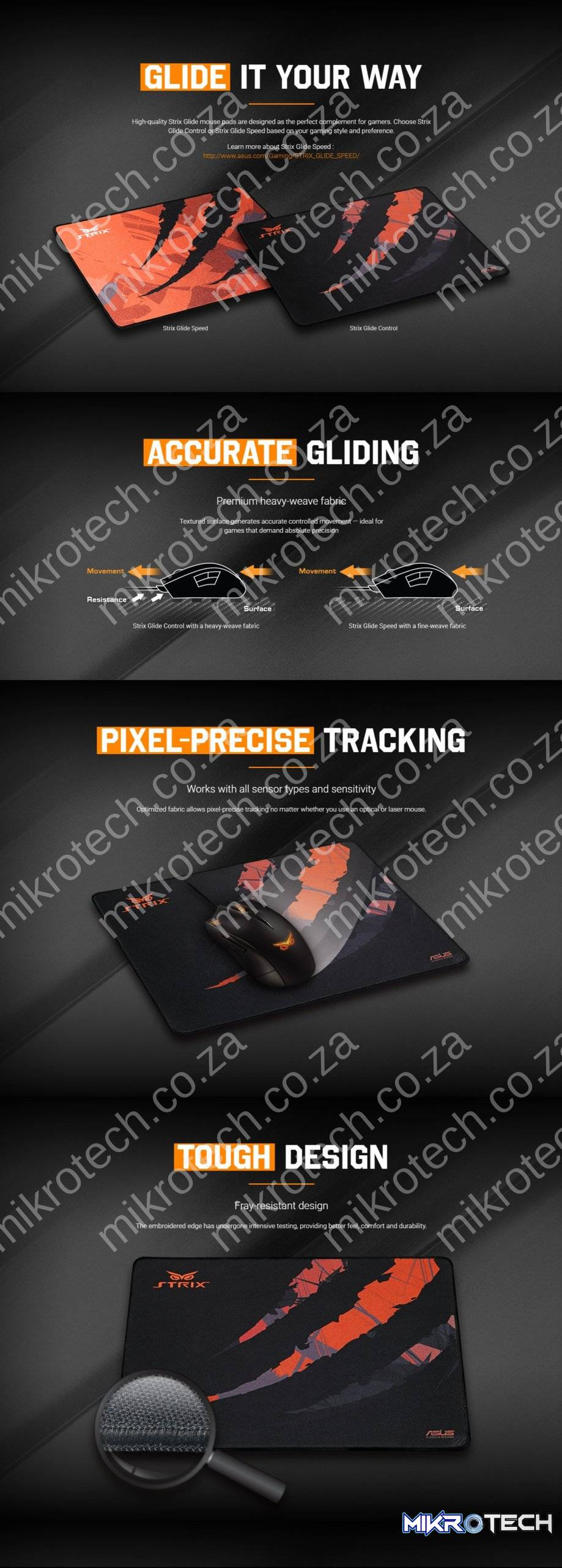 Asus STRIX Glide Control Mouse Pad