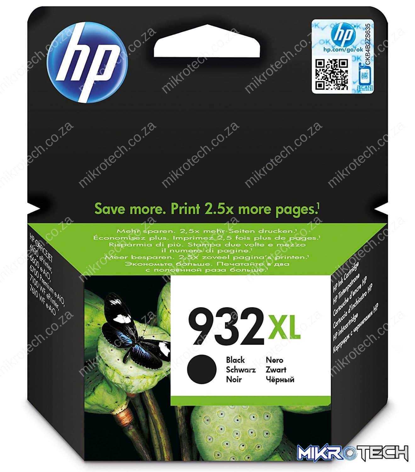 HP CN053AE no.932XL Black ink , 1000 pages - for HP Officejet 6700 series