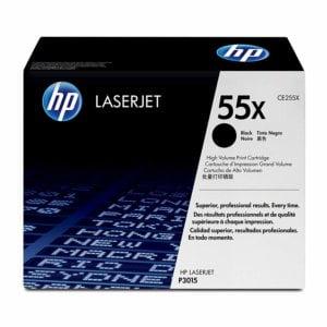 HP CE255X Black Toner, 12500pages - for HP LaserJet P3010 Series, P3015 Series