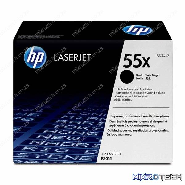 HP CE255X Black Toner, 12500pages - for HP LaserJet P3010 Series, P3015 Series