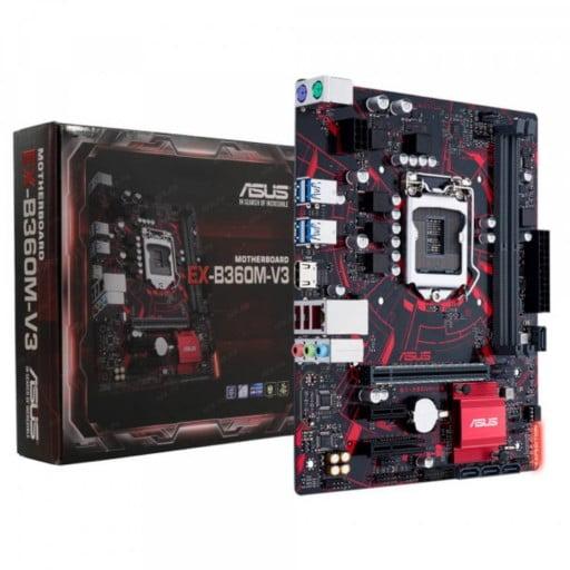 Asus EX-B360M-V3 Intel B360 Coffee Lake LGA1151 Micro-ATX Desktop Motherboard
