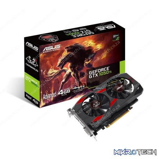 Asus GeForce GTX 1050 Ti Advanced Edition CERBERUS 4GB GDDR5 Desktop Graphics Card