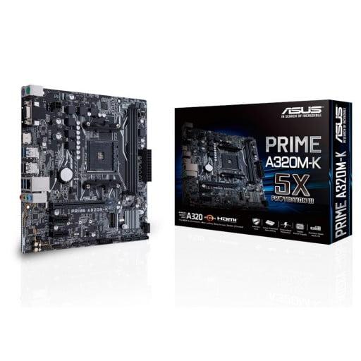 Asus Prime A320M-K AMD Ryzen A320 Socket AM4 Micro-ATX Desktop Motherboard