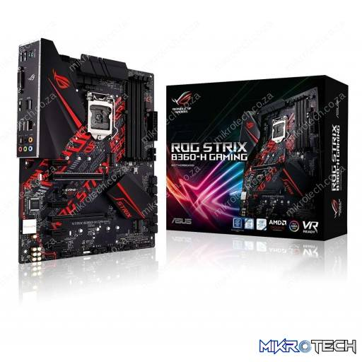 Asus ROG Strix B360-H Gaming Intel B360 Coffee Lake LGA1151 ATX Desktop Motherboard