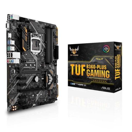 Asus TUF B360-PLUS Gaming LGA1151 Intel B360 ATX Desktop Motherboard