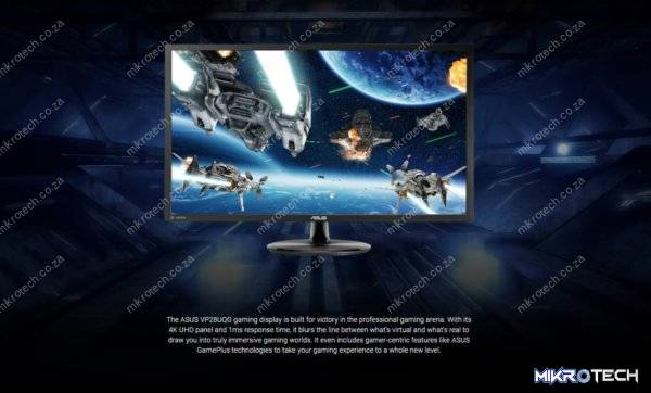 "Asus VP28UQG 28"" 4K Ultra HD (3840x2160) 60Hz 1ms Adaptive-Sync Gaming Desktop Monitor"