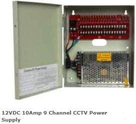 Securnix 12VDC 10Amp 9 Channel CCTV Power Supply