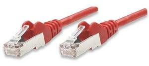 Intellinet Network Cable, Cat5e, FTP - RJ45 Male / RJ45 Male, 5.0 m Red