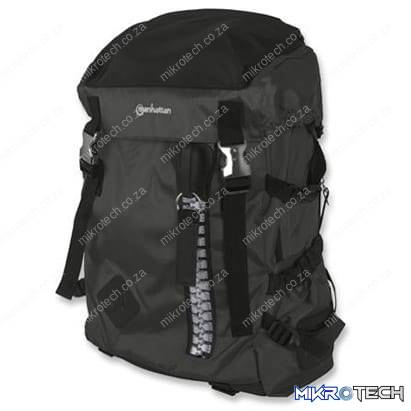 "Manhattan 15.6"" Zippack Notebook Backpack Colour:Black"