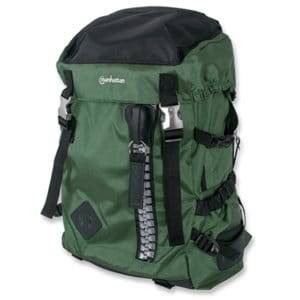 "Manhattan 15.6"" Zippack Notebook Backpack Colour:Black and Green"