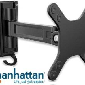 "Manhattan Universal Flat-Panel TV Articulating Wall Mount - Single arm supports one 13"" to 27"" television"