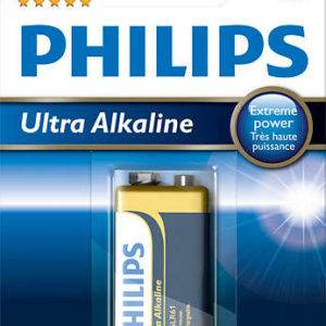 Philips Ultra Alkaline 6LR61E1B Battery