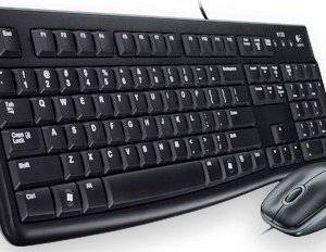 Logitech MK120 Wired USB Desktop Combo - Keyboard & Mouse