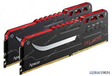 Apacer Blade Fire LED 16GB (2 x 8GB Kit) DDR4 288 Pin 3000Mhz Dual Channel Package Gaming Desktop Memory