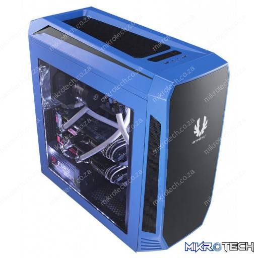 BitFenix Aegis Blue Windowed Side Panel Icon Display Micro-ATX Gaming Chassis