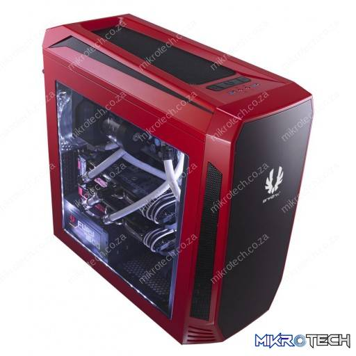 BitFenix Aegis Red Windowed Side Panel Icon Display Micro-ATX Gaming Chassis