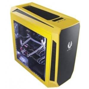 BitFenix AEG-300-YKWL1 Aegis Yellow Windowed Side Panel Icon Display Micro-ATX Gaming Chassis