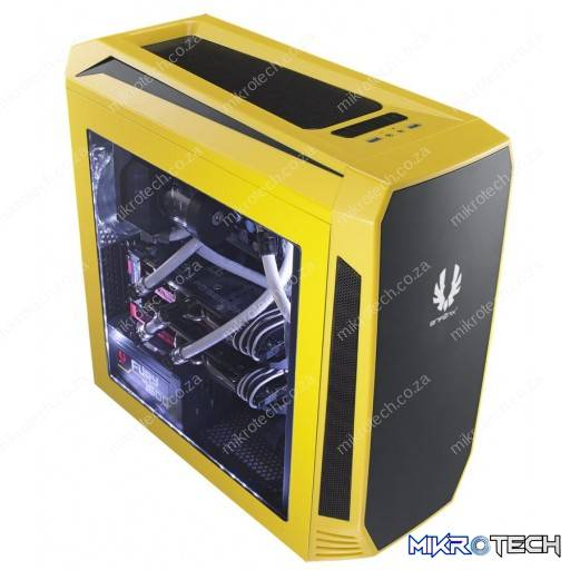 BitFenix Aegis Yellow Windowed Side Panel Icon Display Micro-ATX Gaming Chassis