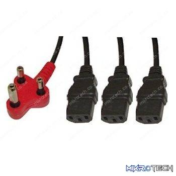 CABLE DEDICATED 3PIN TO 3 X IEC 3.8M