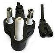 CABLE NORMAL PLUG 3PIN TO FIG 8 1.8M