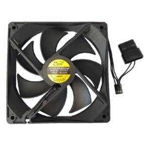CHASSIS FAN: 120MM BLACK