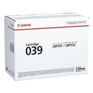 Canon 039 LBP351/LBP352 Black Original Laser Toner Cartridge