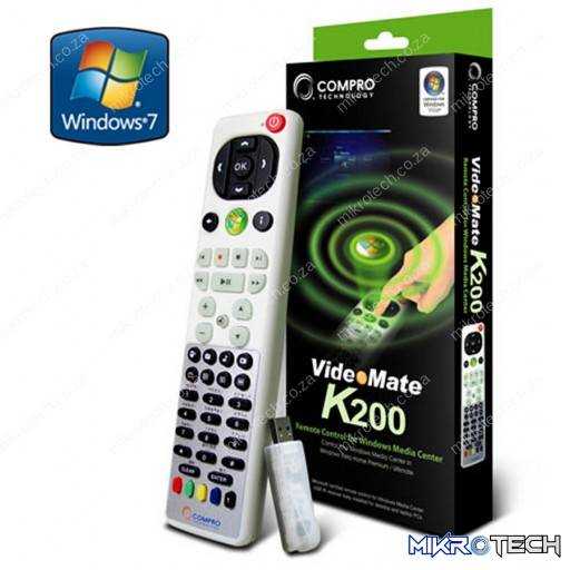 Compro K200 Remote Control for Windows Media Center