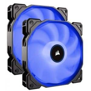 Corsair AF Series AF140 LED Low Noise Blue Dual Pack Case Fan - 2018 Edition