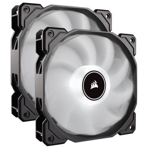 Corsair AF Series AF140 LED Low Noise White Dual Pack Case Fans - 2018 Edition