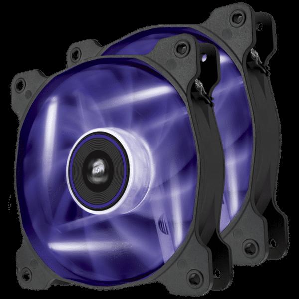 Corsair Air Series SP120 LED Purple High Static Pressure 120mm Twin Pack Fan