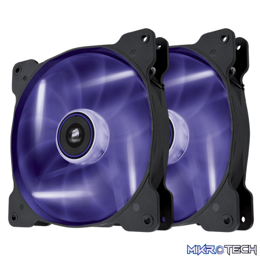 Corsair Air Series SP140 LED Purple High Static Pressure 140mm Twin Pack Fan
