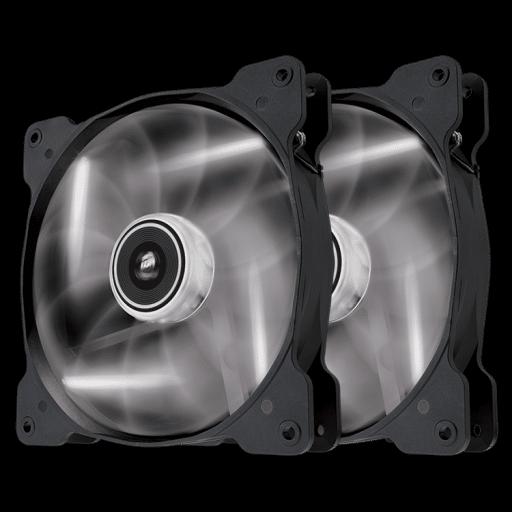 Corsair Air Series SP140 LED White High Static Pressure 140mm Twin Pack Fan