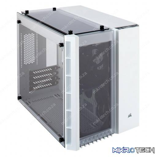 Corsair CC-9011136 Crystal Series 280X White Tempered Glass m-ATX Mini-Tower Desktop Chassis