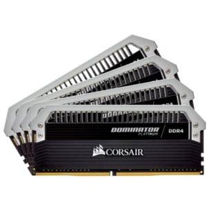 Corsair Dominator Platinum 64GB (4x16GB) DDR4-3000MHz CL15 1.35V 288-Pin Black Desktop Memory