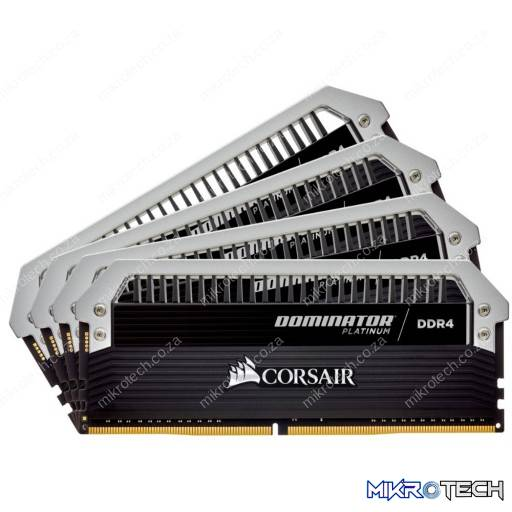 Corsair CMD64GX4M4C3000C15 Dominator Platinum 64GB (4x16GB) DDR4-3000MHz CL15 1.35V 288-Pin Black Desktop Memory