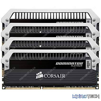 Corsair CMD16GX3M4A2800C12 / CMD16GX3M4B2800C12 Dominator Platinum DDR3-2800MHz 4x4GB Kit - Desktop Memory
