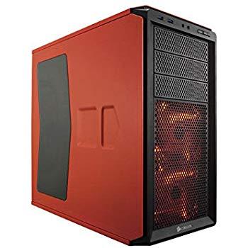 Corsair Graphite Series 230T Orange + Black with Orange LED With Windowed Side Panel LED ATX Form Factor Desktop Chassis