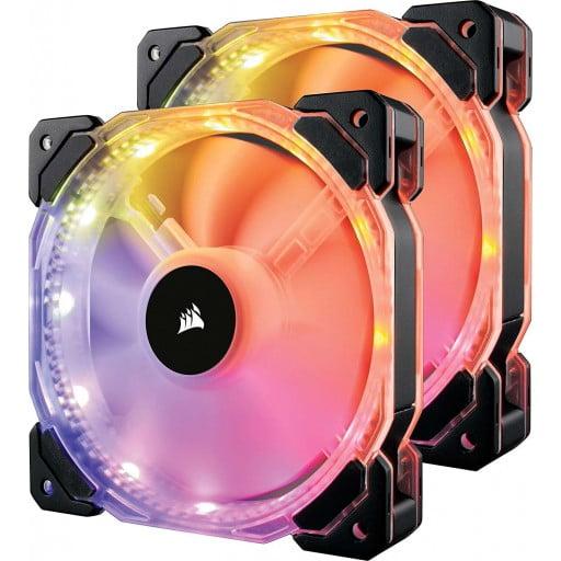 Corsair HD140 RGB LED High Performance 140mm PWM Case Fan - Twin Pack