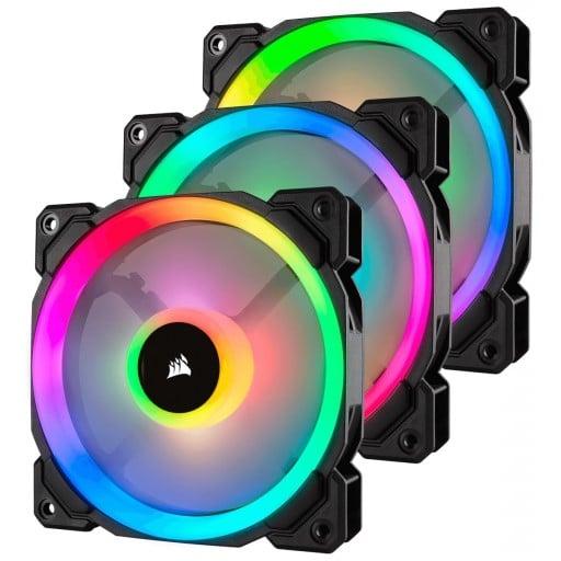 Corsair LL120 Dual Light Loop RGB LED 120mm PWM Case Fan - 3 Pack