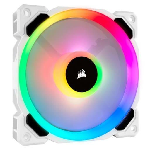Corsair LL120 RGB 120mm Dual Light Loop White Case Fan