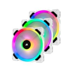 Corsair LL120 RGB 120mm Dual Light Loop White Case Fan Triple Pack