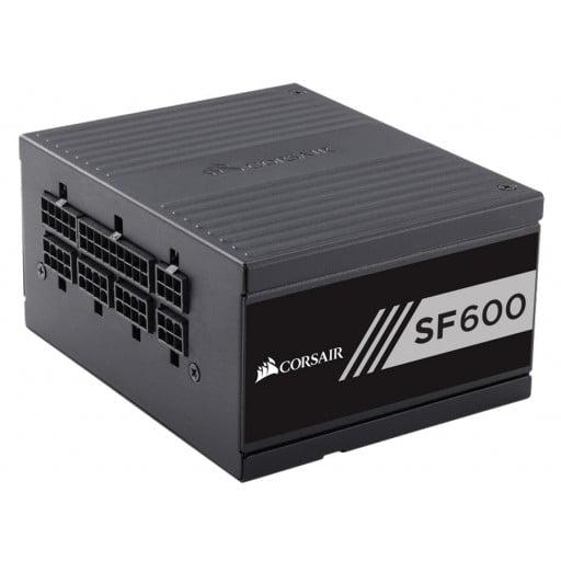 Corsair CP-9020105-NA SF600 SFX Form Factor 600W 80 Plus Gold Certified Fully Modular Desktop Power Supply