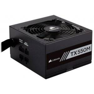 Corsair CP-9020133 TX-M Series TX550M 550W 80 Plus Gold Certified Semi-Modular Desktop Power Supply