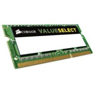 Corsair CMSo4GX3M1C1600C11 ValueSelect 4GB (1x4GB) DDR3L-1600MHz CL11 1.35V 204-pin SODIMM Notebook Memory