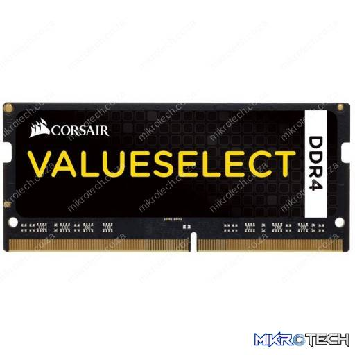 Corsair CMSO8GX4M1A2133C15 Value Select 8GB (1x8GB) DDR4-2133MHz CL15 1.2V Black Notebook Memory