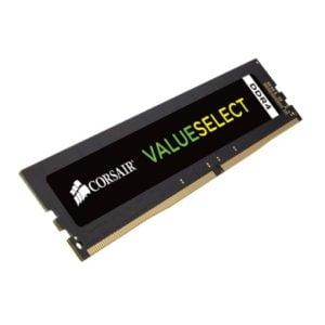 Corsair CMV8GX4M1A2400C16 Value Select 8GB (1x8GB) DDR4-2400MHz CL16 1.2V 288-Pin Black Desktop Memory