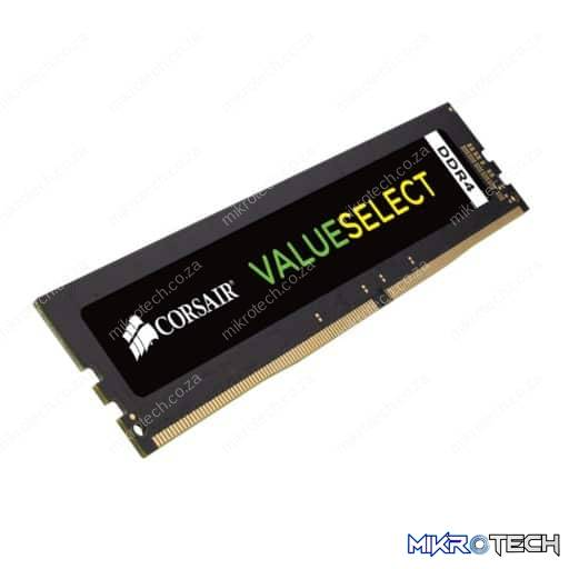 Corsair Value Select 8GB (1x8GB) DDR4-2666MHz CL18 1.2V 288-Pin Black Desktop Memory